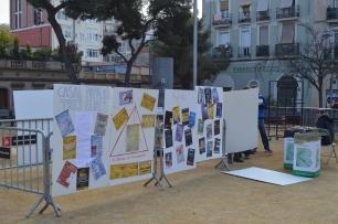 Murals explicant l'any de història del CP Tres Lliris (@Mar_RomeroS)