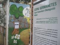 Imatge de l''entrada als 580 metres quadrats gestionats per veïns i membres de Recreant Cruïlles.