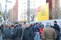 Les manifestacions s'han intensificat en els darrers mesos. El passat 3 de març els veïns van arribar fins davant la seu del Mobile World Congress / Ferran Moreno
