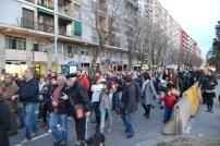 En la protesta hi han participat més de 300 veïns de la Zona Franca. De cara el 14 de març, les associacions de veïns preparen una gran manifestació.