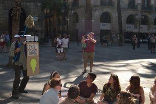 Performance amb els turistes
