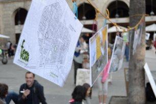 L'acció de Fem Plaça pretén recuperar l'espai comú