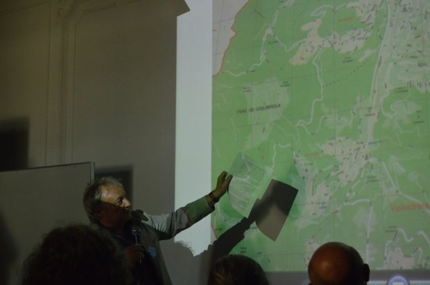 Presentació durant les jornades en defensa de Collserola