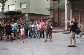 Ramon Almoguera, creador de 'Salvem la Repla' en la concentració reivindicativa del passat 2 de juliol / Marina Riera