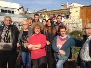 Els usuaris de l'Hort Indignat 2 han mostrat resistència pacífica davant del desallotjament / Marina Riera